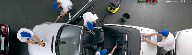 Professionelle Fahrzeugaufbereitung