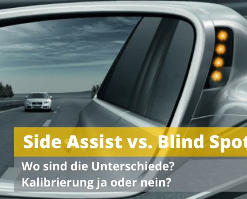Blind Spot vs Sideassist Spurwechselassistent Todwinkelassisten Spiegelfuß Auto Hirsch