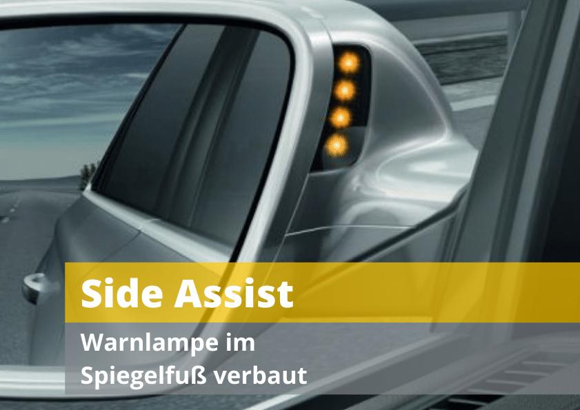 Blind Spot Sideassist Spurwechselassistent Todwinkelassistent Spiegelfuß Auto Hirsch Audi Seat Skoda VW